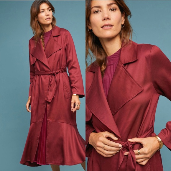 Cabernet Trench Coat